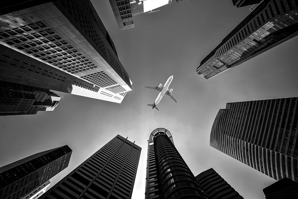 airline, architecture, buildings